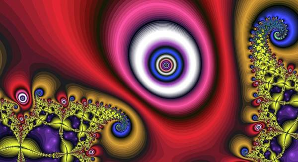 Digital Art - Super Hurricane Eye Red by Don Northup