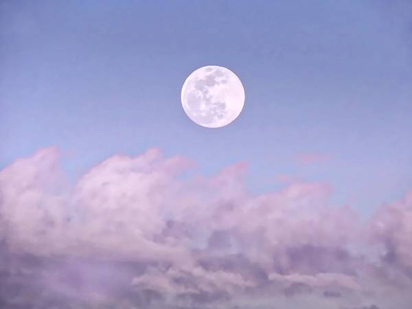 Photograph - Super Moon In Libra Over Clouds by Judy Kennedy