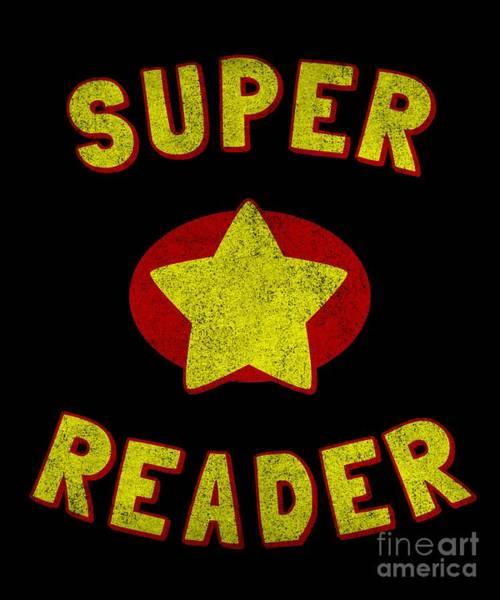 Reader Digital Art - Super Reader Vintage by Flippin Sweet Gear