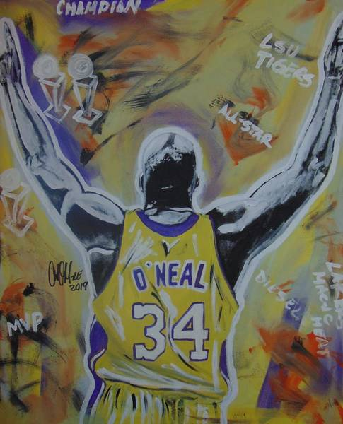 Painting - Super Shaq by Antonio Moore