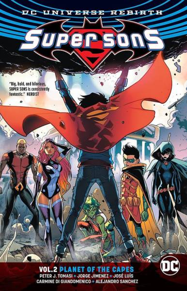 Son Digital Art - Super Sons Vol. 2 Planet Of The Capes  Dc by Geek N Rock