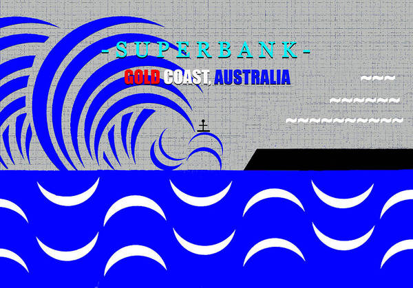 Wall Art - Digital Art - Superbank Gold Coast Australia Surfing Art by David Lee Thompson
