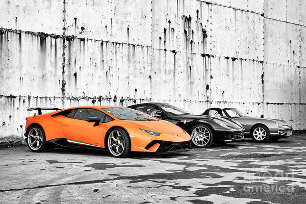 Photograph - Supercars by Tim Gainey