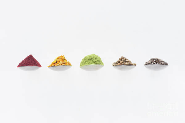 Photograph - Superfoods On Spoons by Tim Gainey