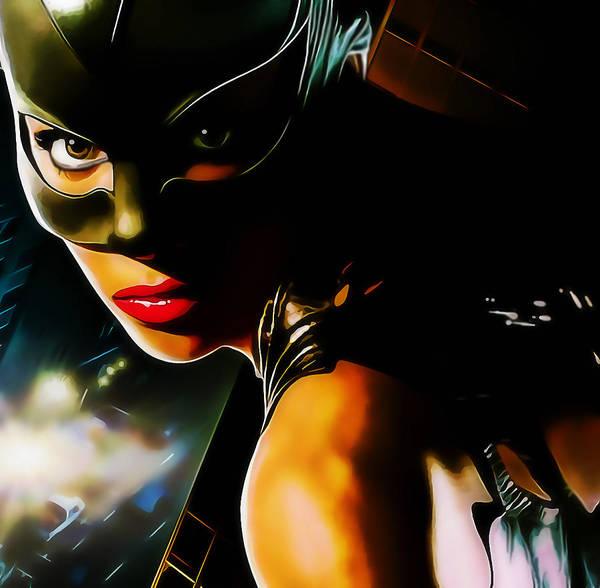 Mixed Media - Superhero Catwoman by Marvin Blaine