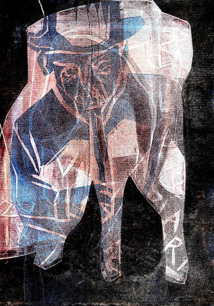 Relief - Superimposed Elephant 10 by Artist Dot