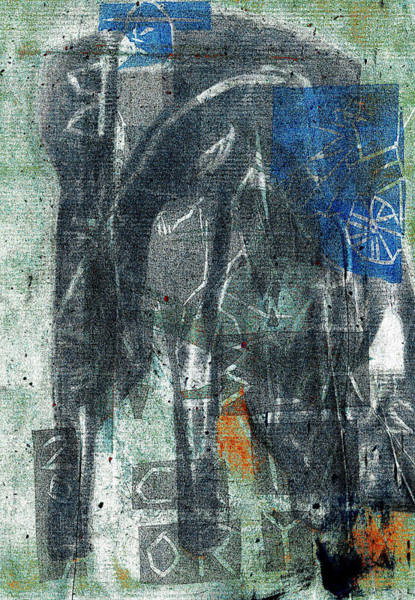 Relief - Superimposed Elephant 2 by Artist Dot