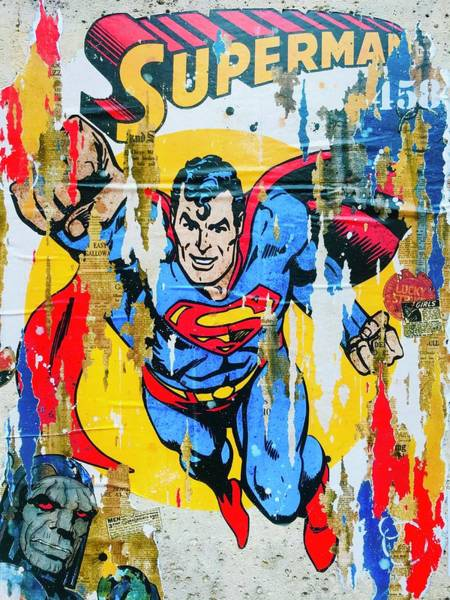 Wall Art - Photograph - Superman Is Needed To Save The World by Funkpix Photo Hunter