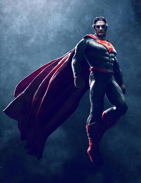 Wall Art - Digital Art - Superman Sketch 1 by Guillem H Pongiluppi