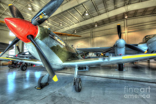 Ju 52 Wall Art - Photograph - Supermarine Mk-1xe Spitfire by Greg Hager