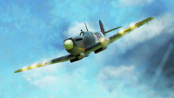 Painting - Supermarine Spitfire - 09 by Andrea Mazzocchetti
