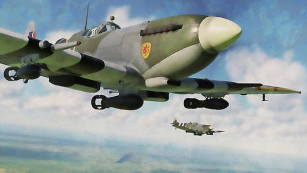 Painting - Supermarine Spitfire - 11 by Andrea Mazzocchetti