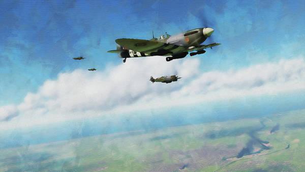 Painting - Supermarine Spitfire - 12 by Andrea Mazzocchetti