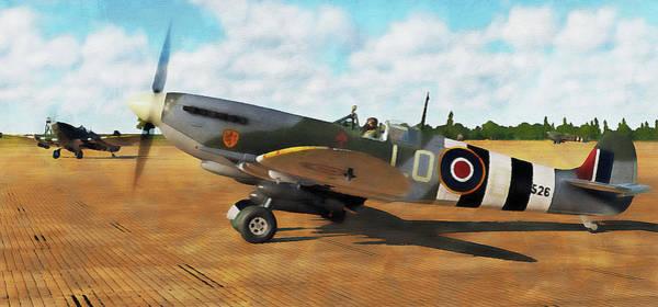 Painting - Supermarine Spitfire - 13 by Andrea Mazzocchetti