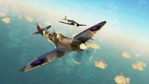 Painting - Supermarine Spitfire - 14 by Andrea Mazzocchetti