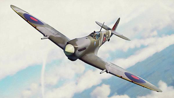 Painting - Supermarine Spitfire - 15 by Andrea Mazzocchetti