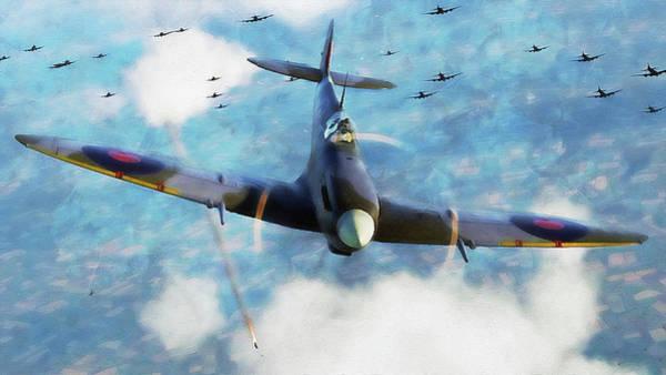 Painting - Supermarine Spitfire - 16 by Andrea Mazzocchetti