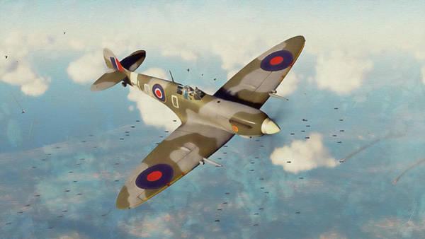Painting - Supermarine Spitfire - 17 by Andrea Mazzocchetti