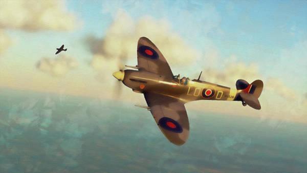 Painting - Supermarine Spitfire - 20 by Andrea Mazzocchetti