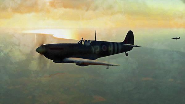 Painting - Supermarine Spitfire - 21 by Andrea Mazzocchetti
