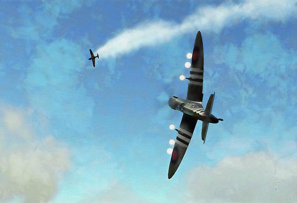 Painting - Supermarine Spitfire - 22 by Andrea Mazzocchetti
