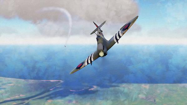 Painting - Supermarine Spitfire - 23 by Andrea Mazzocchetti