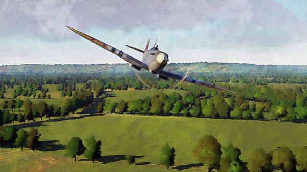 Painting - Supermarine Spitfire - 24 by Andrea Mazzocchetti