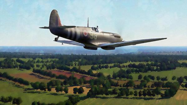 Painting - Supermarine Spitfire - 25 by Andrea Mazzocchetti