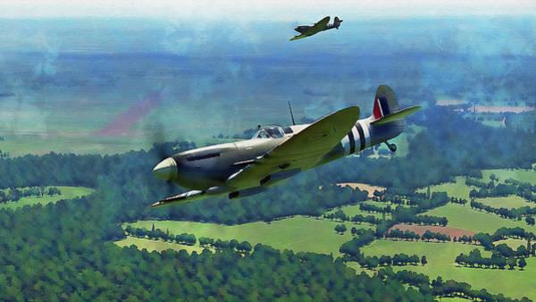 Painting - Supermarine Spitfire - 27 by Andrea Mazzocchetti