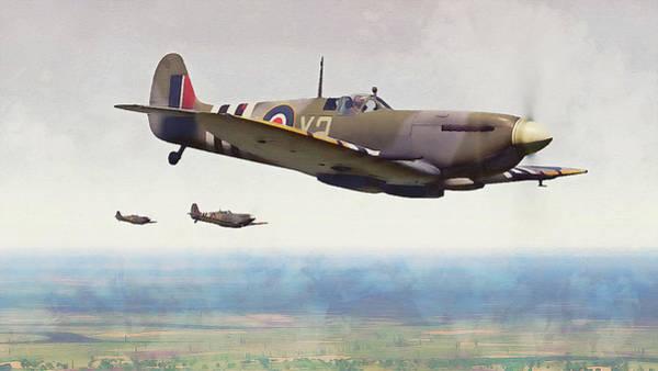 Painting - Supermarine Spitfire - 28 by Andrea Mazzocchetti