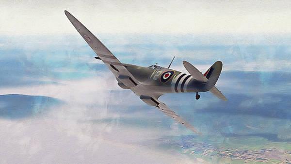 Painting - Supermarine Spitfire - 29 by Andrea Mazzocchetti