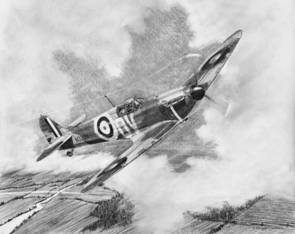 Drawing - Supermarine Spitfire Mk. 1 by Douglas Castleman