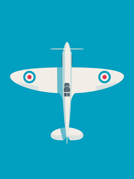 Aviation Wall Art - Digital Art - Supermarine Spitfire Wwii Raf Fighter Aircraft by Ivan Krpan