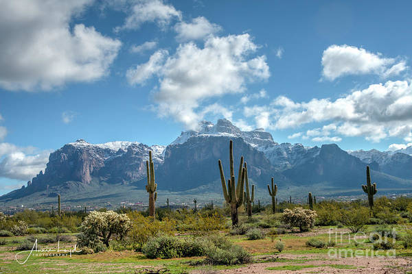 Wall Art - Photograph - Superstition Mountain  by Ann Loyd