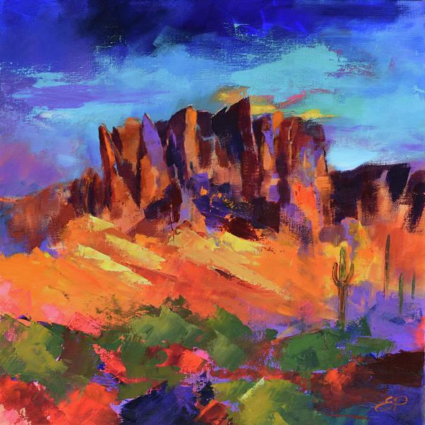 Painting - Superstition Mountains - Arizona by Elise Palmigiani