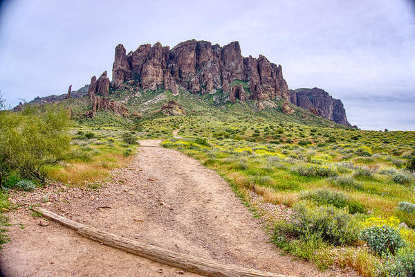 Photograph - Superstition Mountains Pathway by Ants Drone Photography