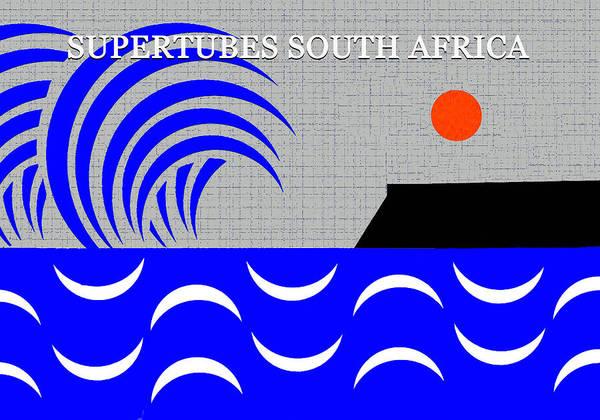 Wall Art - Digital Art - Supertubes Jeffery's Bay South Africa by David Lee Thompson