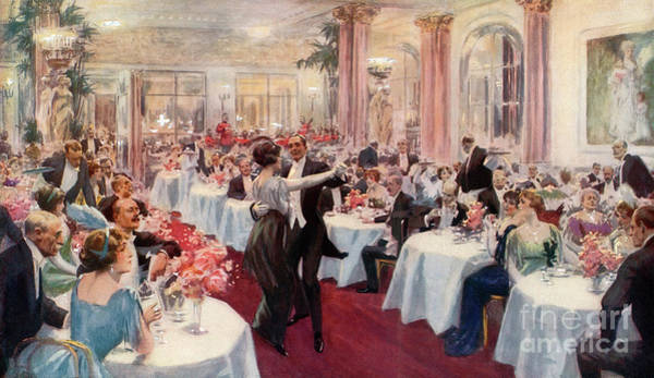 Wall Art - Painting - Supper Scene At The Savoy by English School