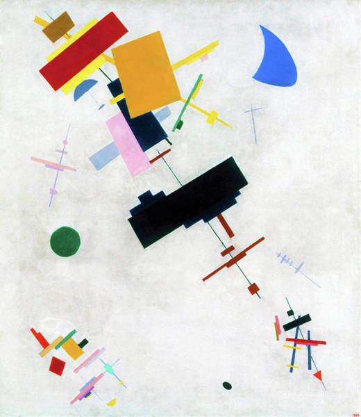 Wall Art - Painting - Suprematism 1915 - Digital Remastered Edition by Kazimir Severinovich Malevich