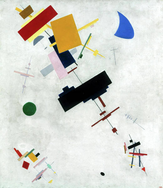 Wall Art - Painting - Suprematism, 1915 by Kazimir Malevich