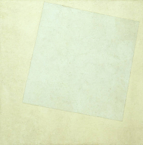 Improvisations Wall Art - Painting - Suprematist Composition, White On White, 1918 by Kazimir Malevich