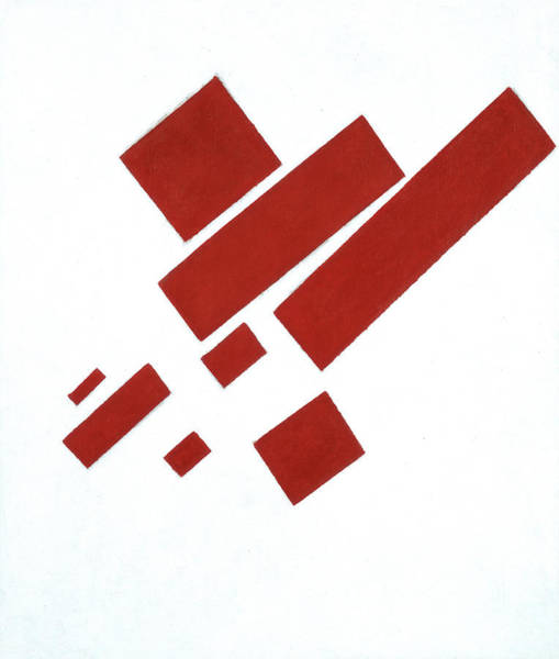 Wall Art - Painting - Suprematist Composition With Eight Red Rectangles, 1915 by Kazimir Malevich