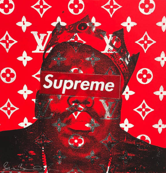 Chanel Mixed Media - Supreme Biggie  by Shane Bowden