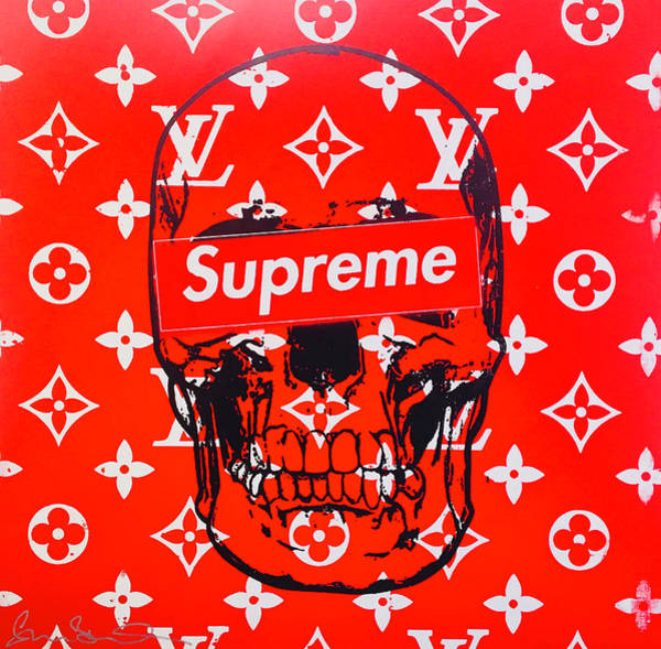 Chanel Mixed Media - Supreme Skull  by Shane Bowden