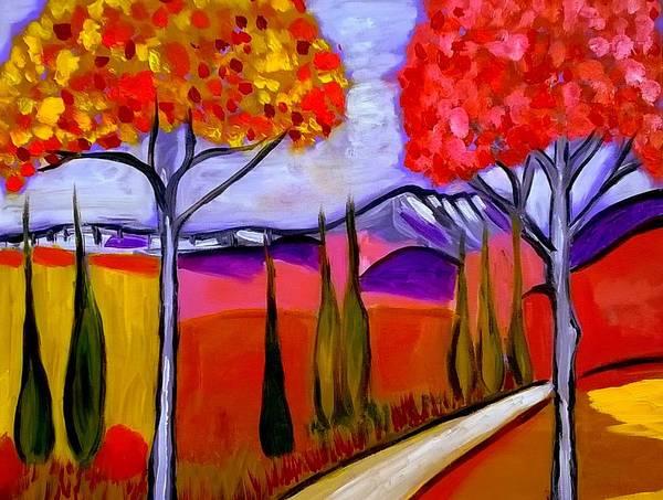 Painting - sur le chemin du Mont St Victoire by Rusty Gladdish