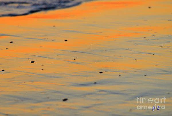 Photograph - Surf And Sand Afterglow by John F Tsumas