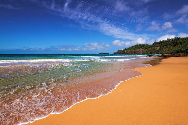 Wall Art - Photograph - Surf And Sand On Secret Beach (kauapea by Russ Bishop