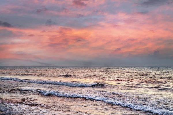 Photograph - Surf At Sunrise by Debra and Dave Vanderlaan