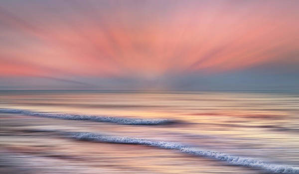 Photograph - Surf At Sunrise Dreamscape by Debra and Dave Vanderlaan