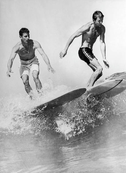 Australia Photograph - Surf Board With Super-slick 1961 by Keystone-france